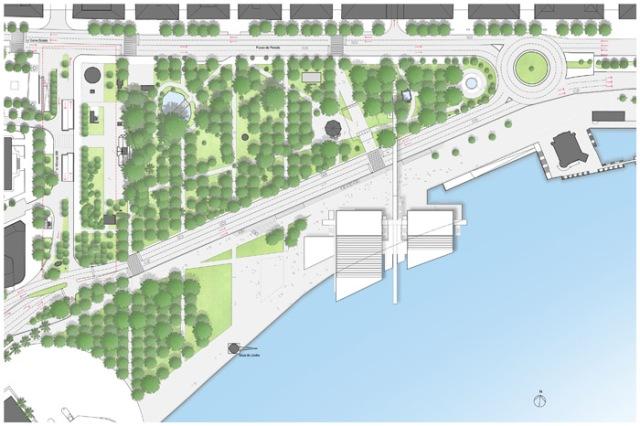 Plans for Botin Centre & Jardines de Pereda, Santander