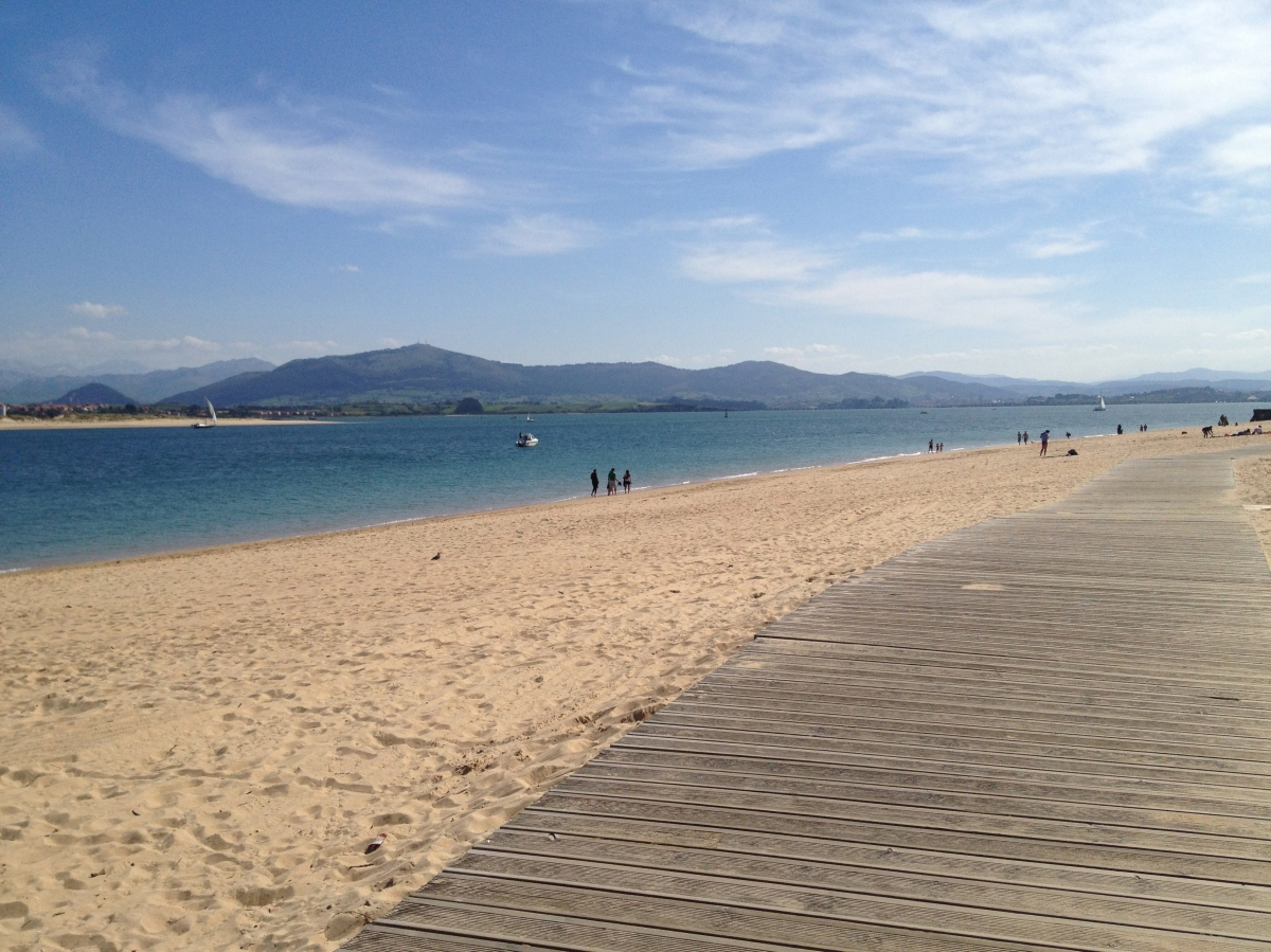 My walking trail - the beaches in Santander