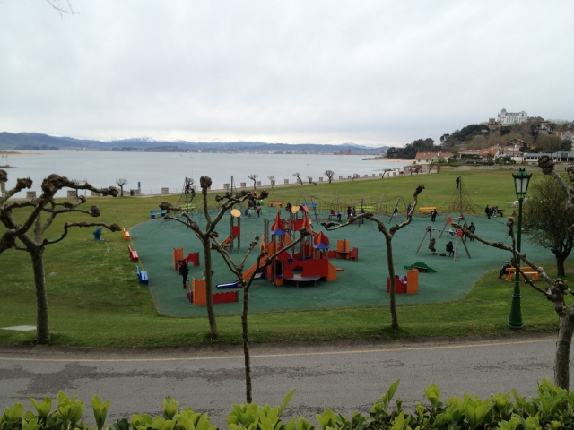 playground on the beach Santander