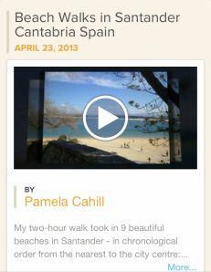 My Animoto 30-second video of Beach Walks in Santander