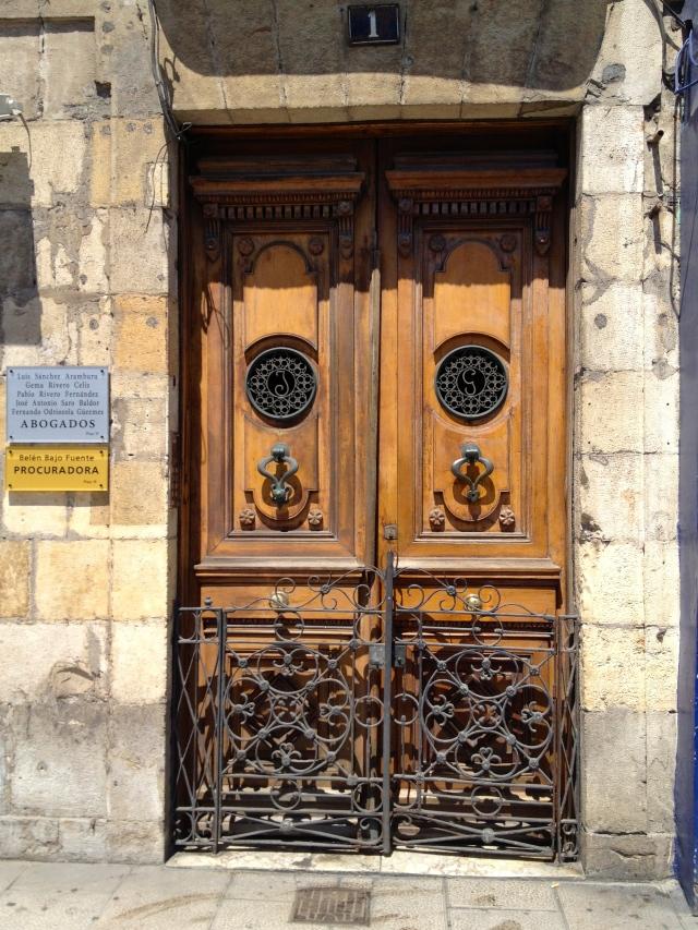 Santander Paseo de Pereda doors