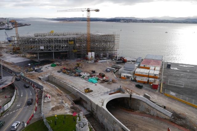 Botin Centre 2014 Santander tunnel traffic