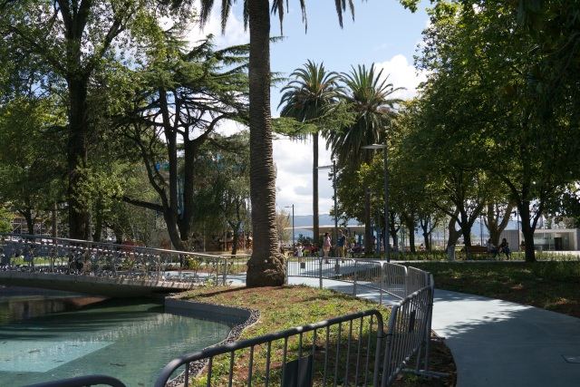 pond water pereda gardens Santander Botin Centre Spain