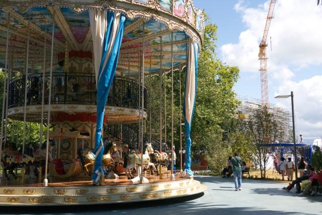 Pereda Gardens Botin Centre Santander Spain carousel merry-go-round