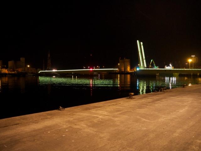 bridge New lonja fish wholesale pescado market Santander Cantabria Spain nighttime Maliano