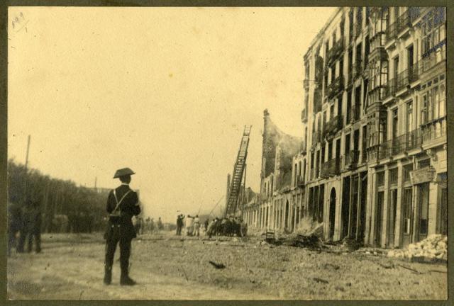 dynamite explosion Machichaco Santander 1893 damage Calderon de la Barca street policeman