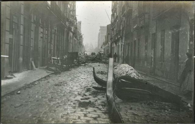 dynamite explosion Machichaco Santander 1893 street iron damage